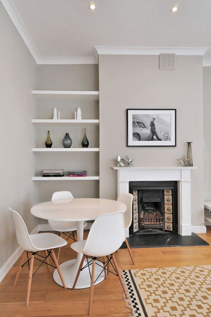 Contemporary Living Room by Chantel Elshout Design Consultancy - Eames Chairs + Gray walls