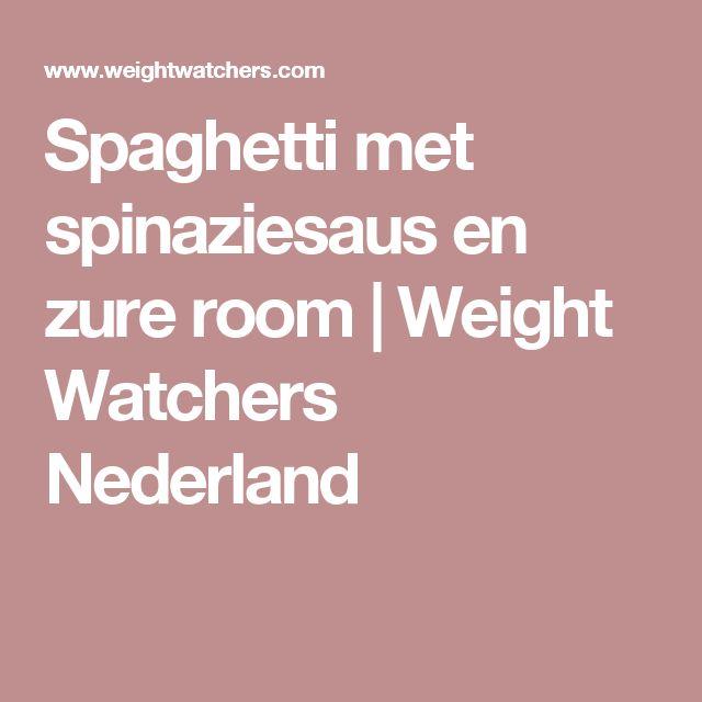 Spaghetti met spinaziesaus en zure room | Weight Watchers Nederland
