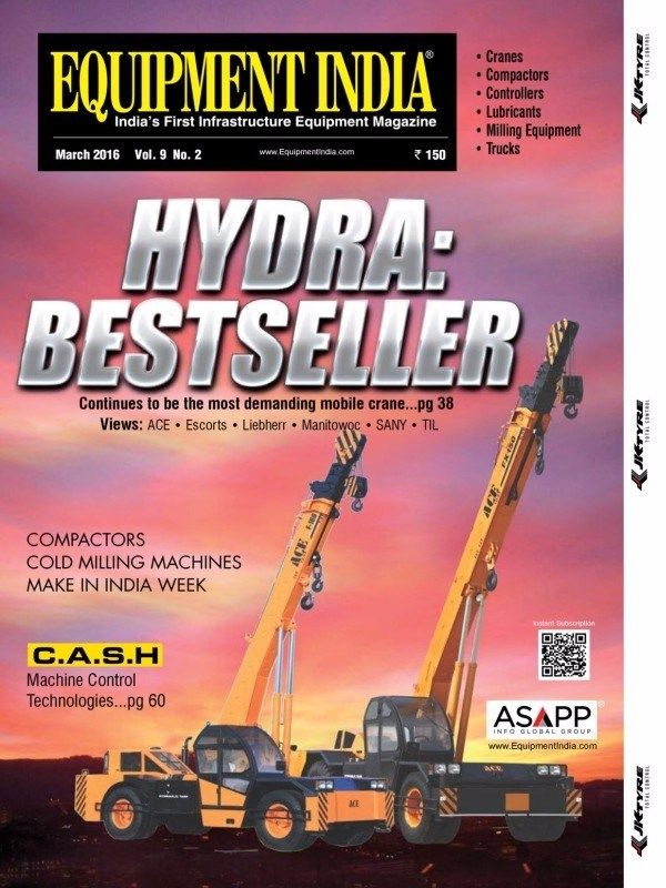 Equipment India March 2016 Issue- Hydra: Bestseller  #EquipmentIndia #MakeInIndiaWeek  #MachineControlTechnology #ebuildin