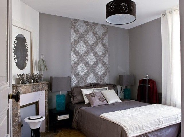 Les 25 meilleures id es concernant papier peint pour t te de lit sur pinterest fond d 39 cran for Idee deco chambre gris