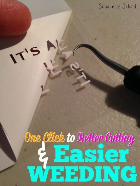 One Click Trick to Cutting Tiny HTV and Vinyl Designs and Text