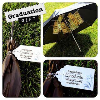 Graduation Gift - rainy day money, so fun! // great graduation gifts