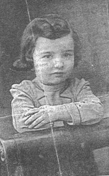 A Jewish child from Bialystok, Debora Klementynowska.  She, along with nearly 1,200 other children, were executed in Auschwitz while waiting for Red Cross/German Kindertransport negotiations. Click through for an article about the story.