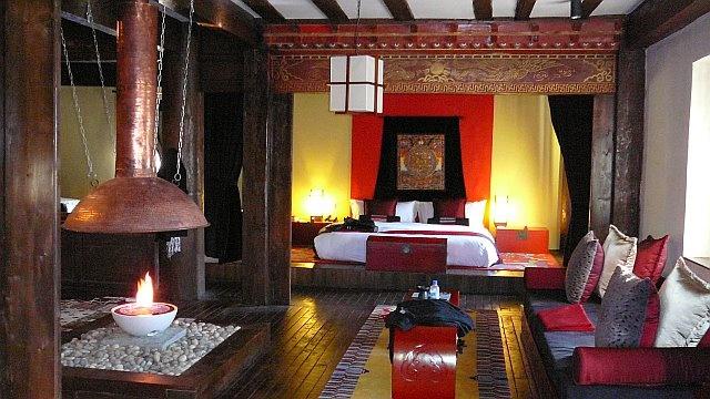 "Our ""hotel room"" at Banyan Tree Ringha (Shangri-La)."