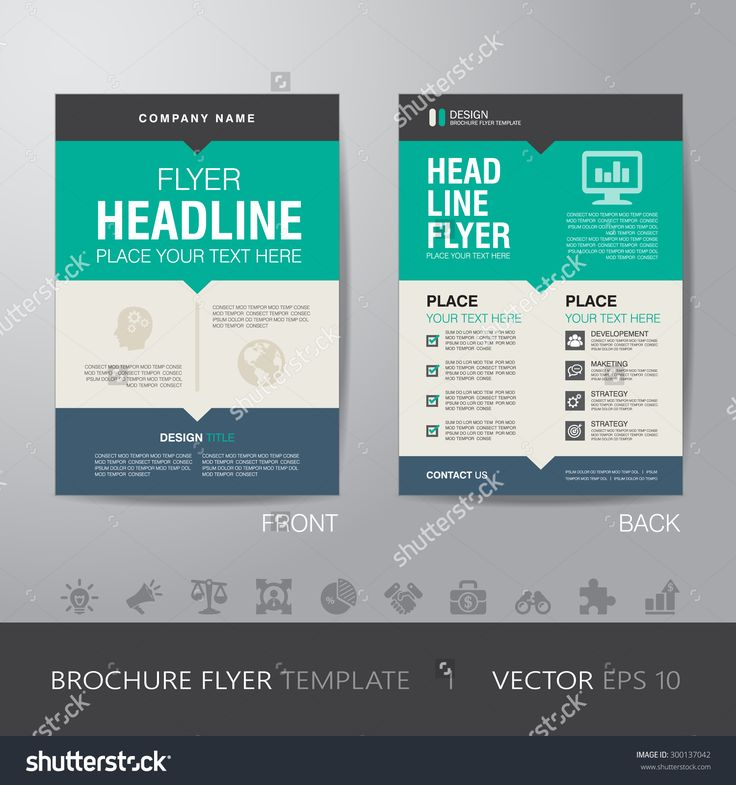 Corporate Brochure Flyer Design Layout Template In A4 Size, With Bleed, Vector Eps10. - 300137042 : Shutterstock