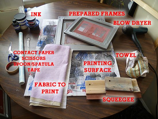 Diy Screenprinting Tutorial Screen Printing With Drawing Fluid And Filler A How To At Home T Print Silk