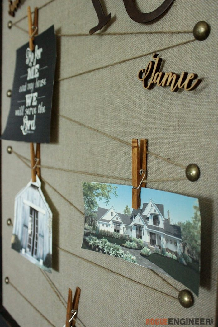 Vision Board | Free tutorial | rogueengineer.com #VisionBoard #DecorDIYplans