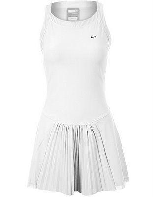 Nike tennis dress with pleats.