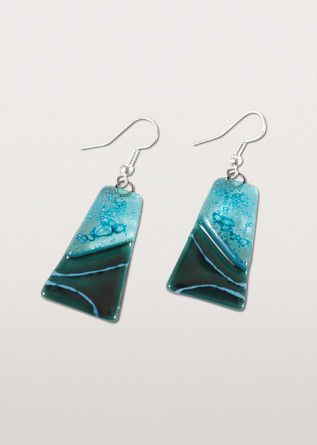 Ten Thousand Villages - Turquoise Glass Earrings