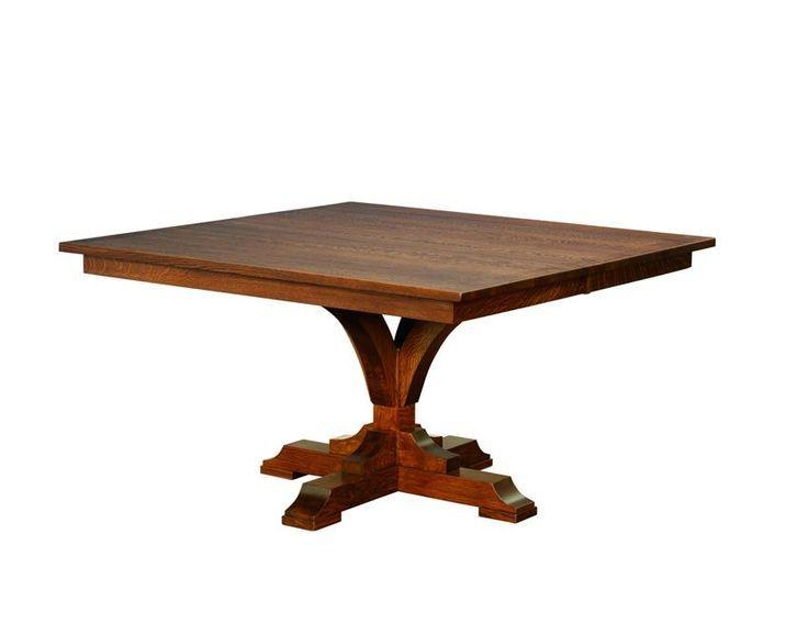 Amish Francis Single Pedestal Dining Table