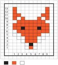 Kuvahaun tulos haulle knitting chart fox
