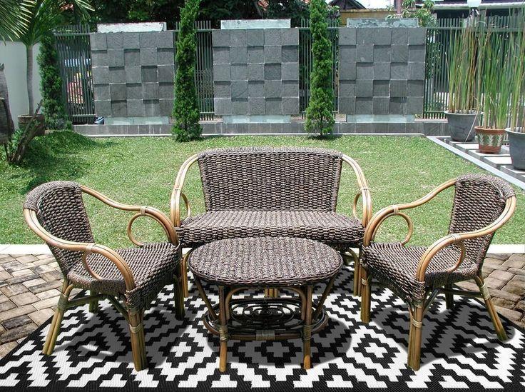 Green Decore - Nirvana, Tappeto da interni ed esterni, reversibile, in plastica riciclata, 90 x 150 cm, colore: Bianco/Nero: Amazon.it: Giardino e giardinaggio