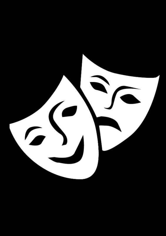 Comedy/Tragedy Masks - for make-your-own pattern