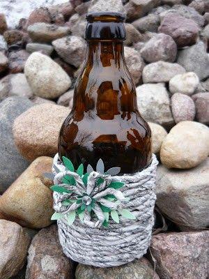 Handmade-kursy ,wzory ,tutoriale: Jak zrobić ozdobną butelkę