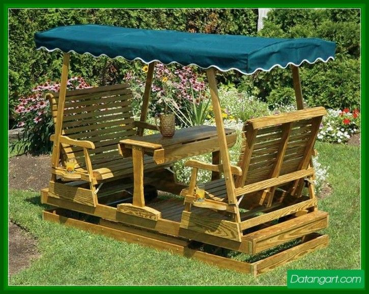 13 Appealing Porch Glider Swings Pic Ideas. Adirondack FurnitureGarden ... Part 90