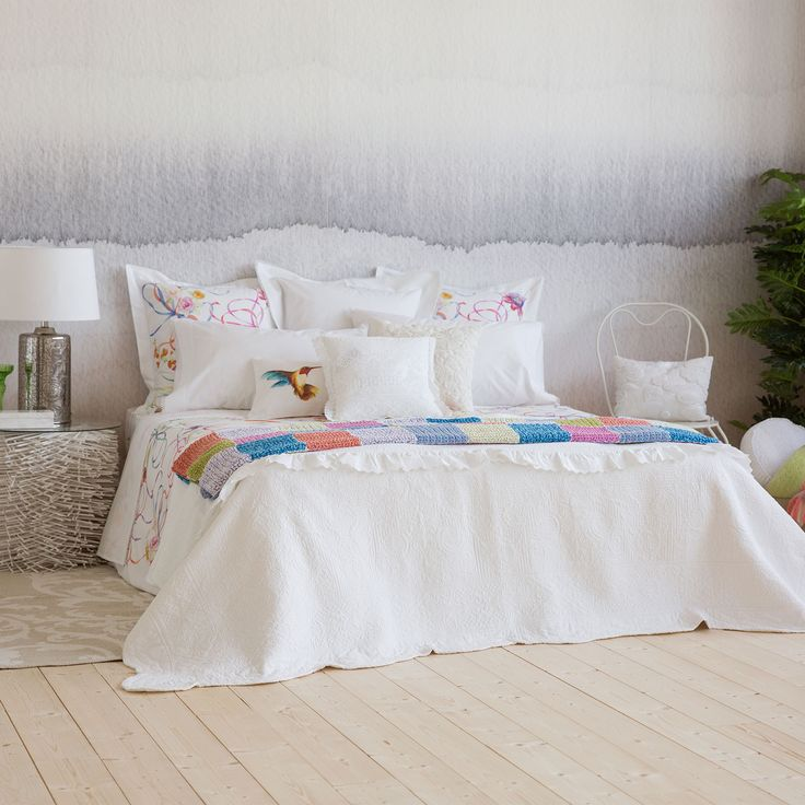 Damask cotton quilt and cushion cover - Quilts - Bedroom   Zara Home Norway