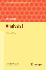 Analysis I - Third Edition | Terence Tao | Springer