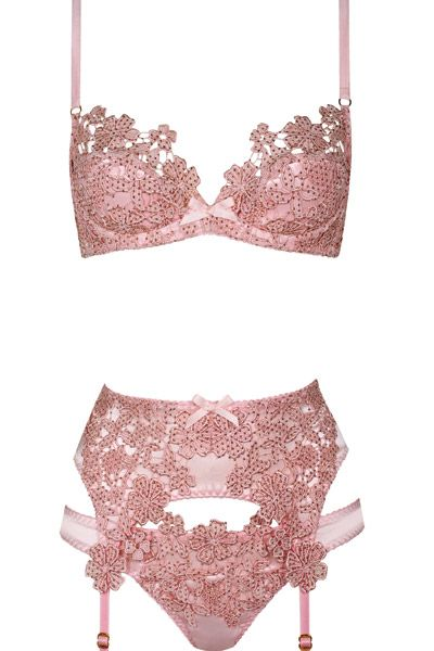 Guipure lace lingerie by Agent Provocateur.  My absolute favorite brand. If only I could afford this everyday of my life.