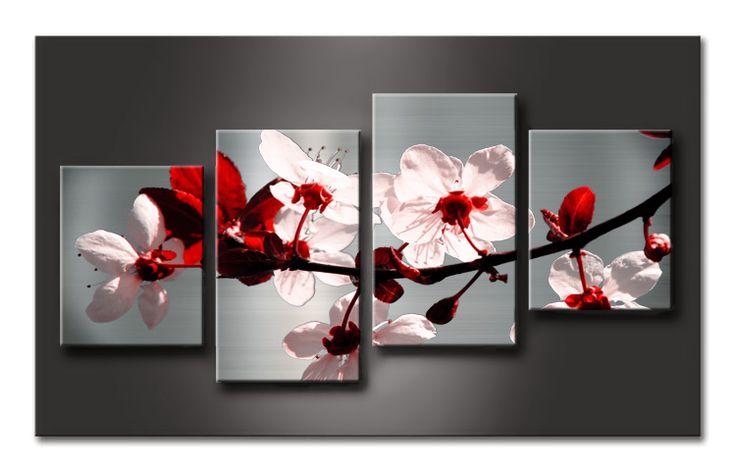 Mf 011 cuadro flores rojas pintura y cuadros pinterest - Cuadros para comedor modernos ...