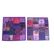 Mogul Cotton Patchwork Cushion Covers Vintage Purple Decorative Pillow Cover Home Decor 16X16 Image 1 of 1      https://www.walmart.com/search/?cat_id=0&grid=true&query=mogul+interior+cushion+cover+#searchProductResult
