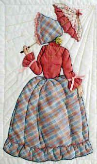 Jessica in plaid bonnet girl dress