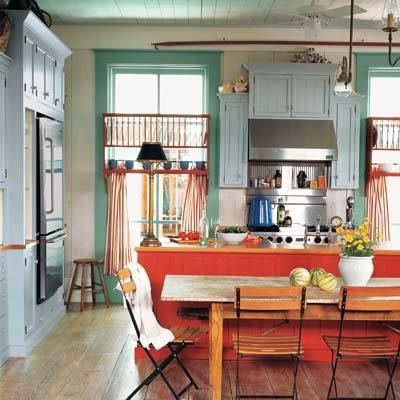 love all the colors and the light...oh to have this much natural lighting.Colors Combos, Dreams Kitchens, Kitchens Design, Kitchens Colors, Kitchen Colors, Kitchens Dining, Kitchens Ideas, Colorful Kitchens, Colors Kitchens