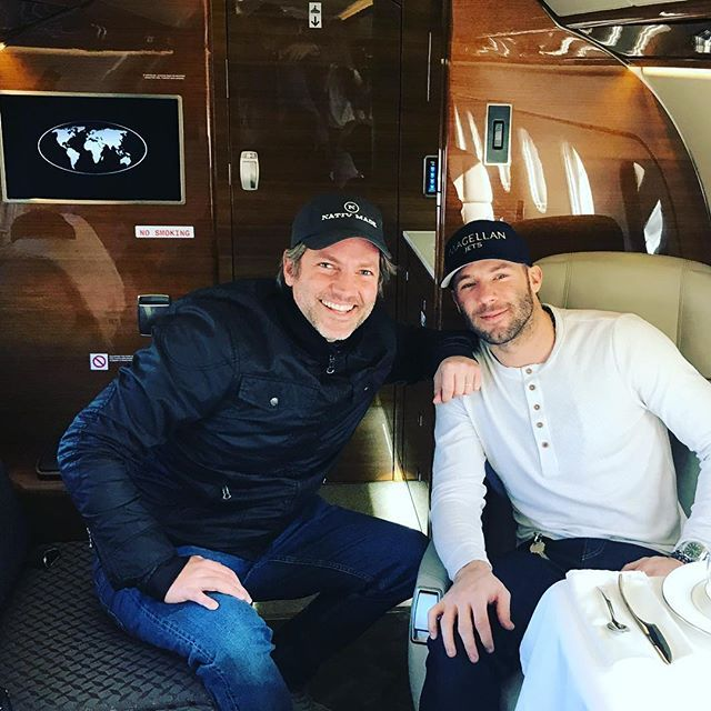 WEBSTA @nathancoe Go Pats!! Was great to meet @edelman11 today with @magellanjets