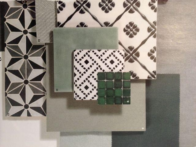 mooie set kleuren en materialen