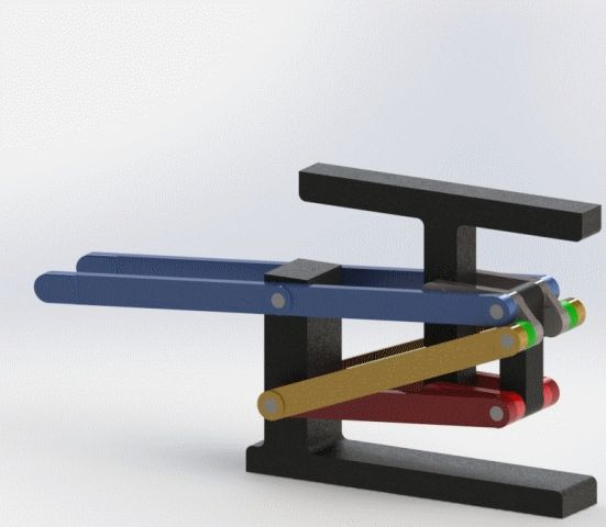 8-Bar Elevator Linkage - STEP / IGES,SOLIDWORKS - 3D CAD model - GrabCAD