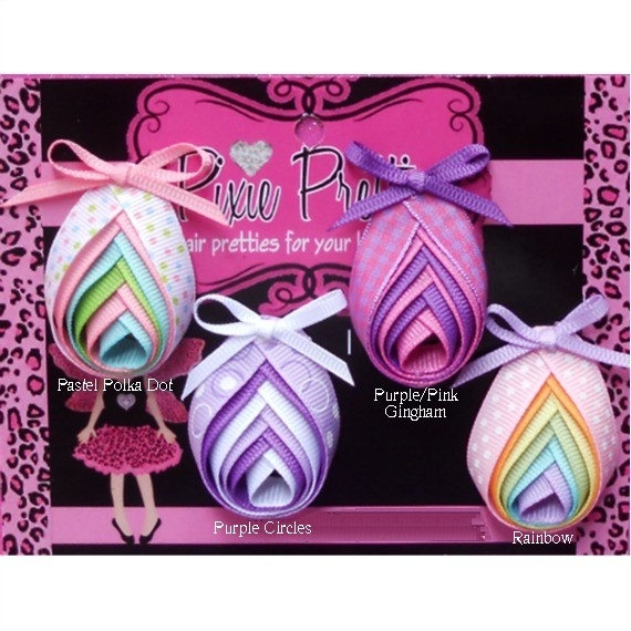 Easter Egg Ribbon Sculpture YOUR CHOICE by PixiePretties on Etsy, $6.50