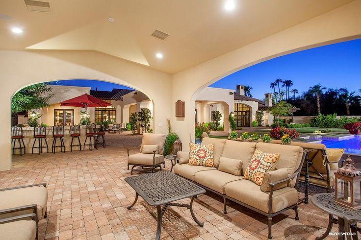 Traditional Porch with Raised beds, Darlee santa monica club chair, Darlee santa monica sofa, Fence, exterior stone floors