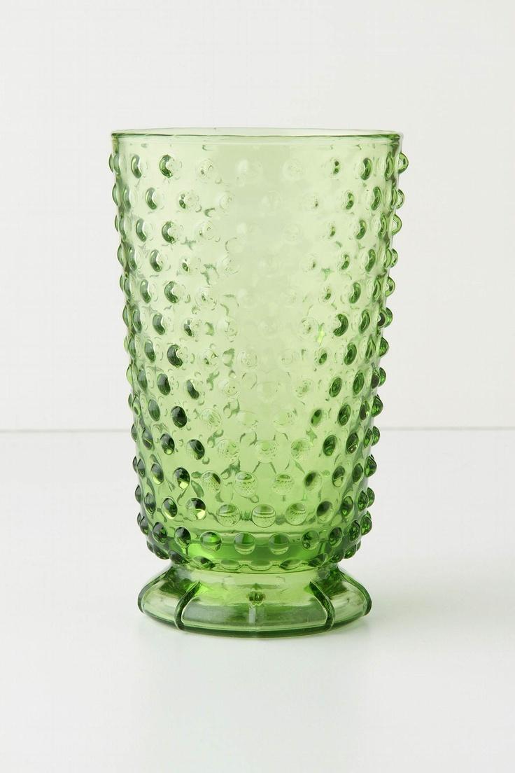 hobnail tumbler in green $10/ea