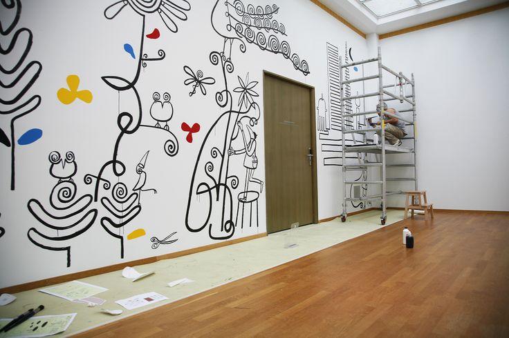 Sieb Posthuma aan het werk @Gemeentemuseum