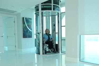 Home elevator perfect for wheelchair bound persons
