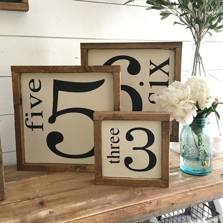 Number sign, family number sign, kids age sign, handmade wooden sign, farmhouse, sign, custom by backroadsigncompany on Etsy https://www.etsy.com/listing/288444647/number-sign-family-number-sign-kids-age
