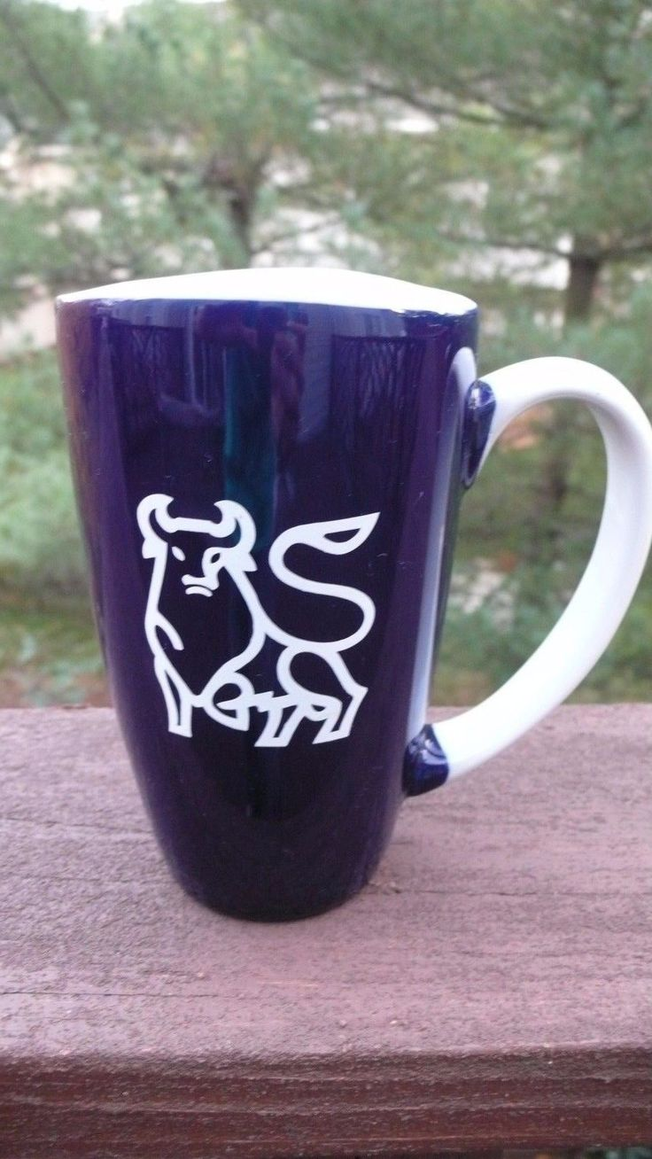 Merril Lynch Blue Tall Coffee Mug