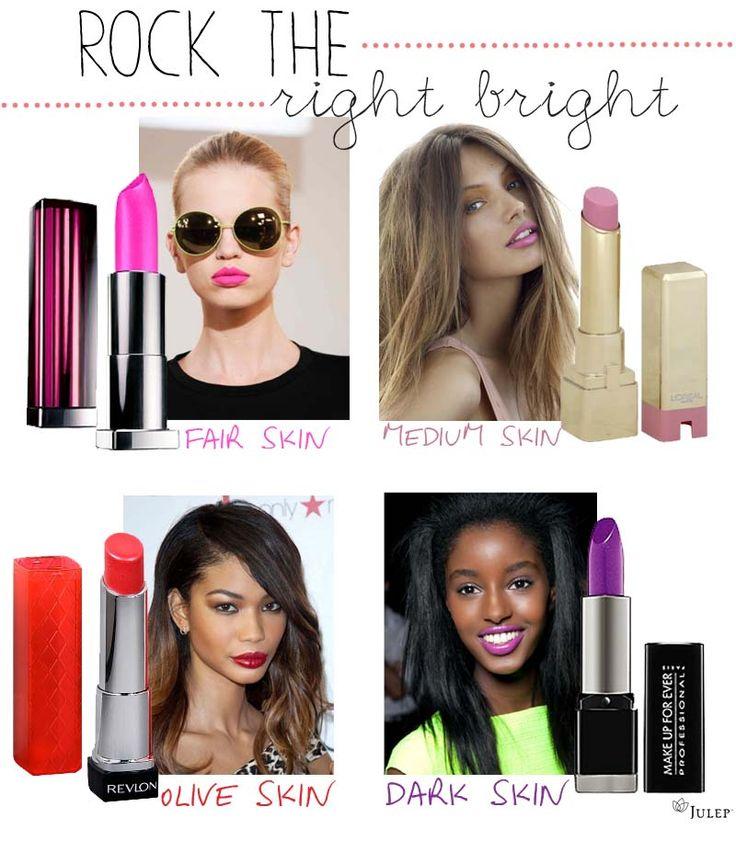 Bright Lip Colors for all Skin Tones