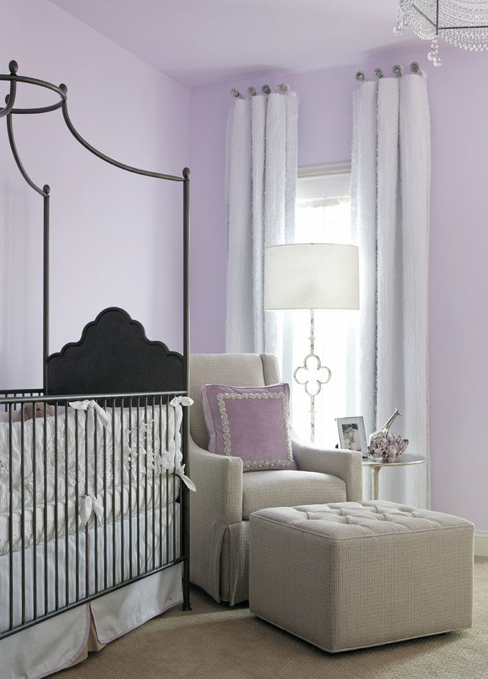 Baroque Iron Crib mode Other Metro Transitional Kids Image Ideas with baby girl nursery coral crystal chandelier drapery on medallions floor lamp girl nursery glider