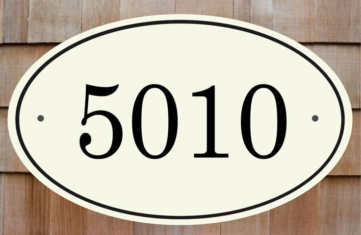 Classy Plaques Store - Oval House Number Plaque - Thin Border, $139.00 (http://www.classyplaques.com/ceramic-oval-house-number-plaque-sign/?page_context=category