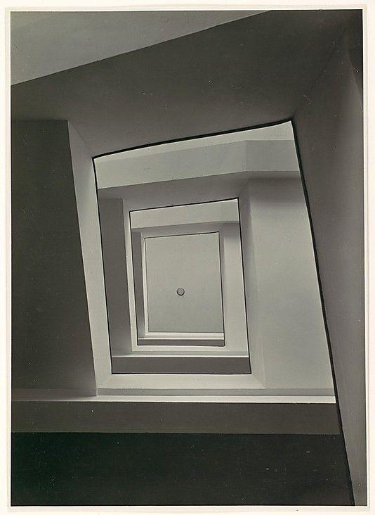 """Werner Mantz. """"Stairwell, View from Below"""". 1920s"""