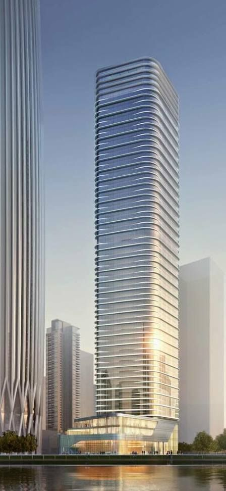 China Resources Headquarters Second Tower, Shenzhen, proposal by Goettsch and Partners Architects :: height 250m