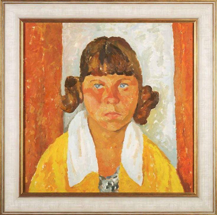 Попков Виктор Ефимович (1932–1974) «Девочка в желтой кофте» 1960-е