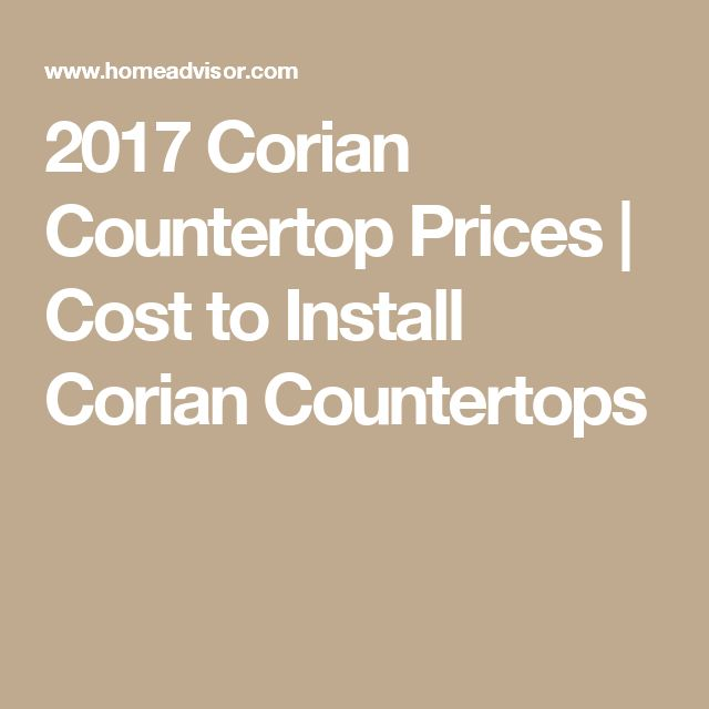 Countertop Replacement Cost : 2017 Corian Countertop Prices Cost to Install Corian Countertops