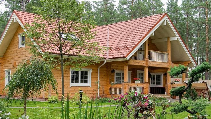 Wooden villa from finland finnish luxury log home provided by
