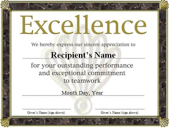 free funny award certificates templates | free award certificate templates word…