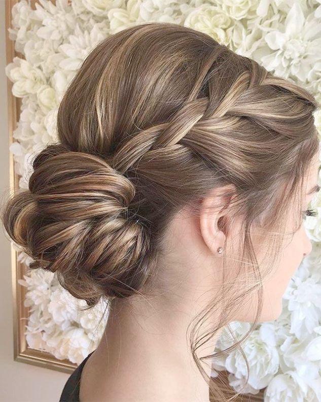 Wedding Hairstyles Chignon Simple Bridesmaid Hairstyles Half Up Medium Length Hair Styles Bridesmaid Hair Updo Braided Hairstyles Updo