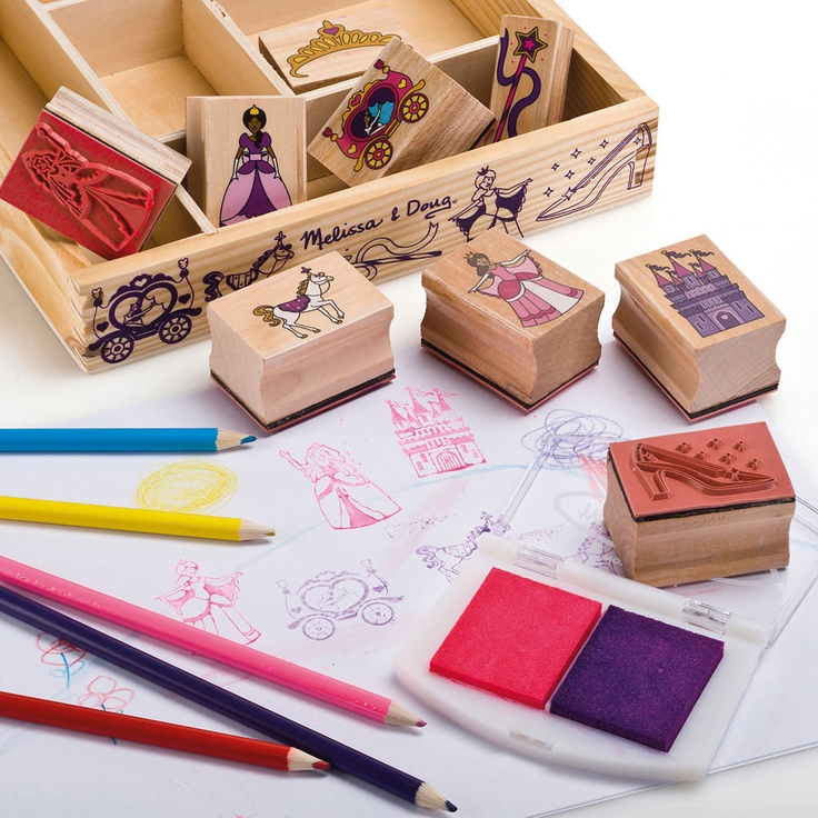 Princess Wooden Stamp Set - All Toys - Toys & Gifts - gltc.co.uk