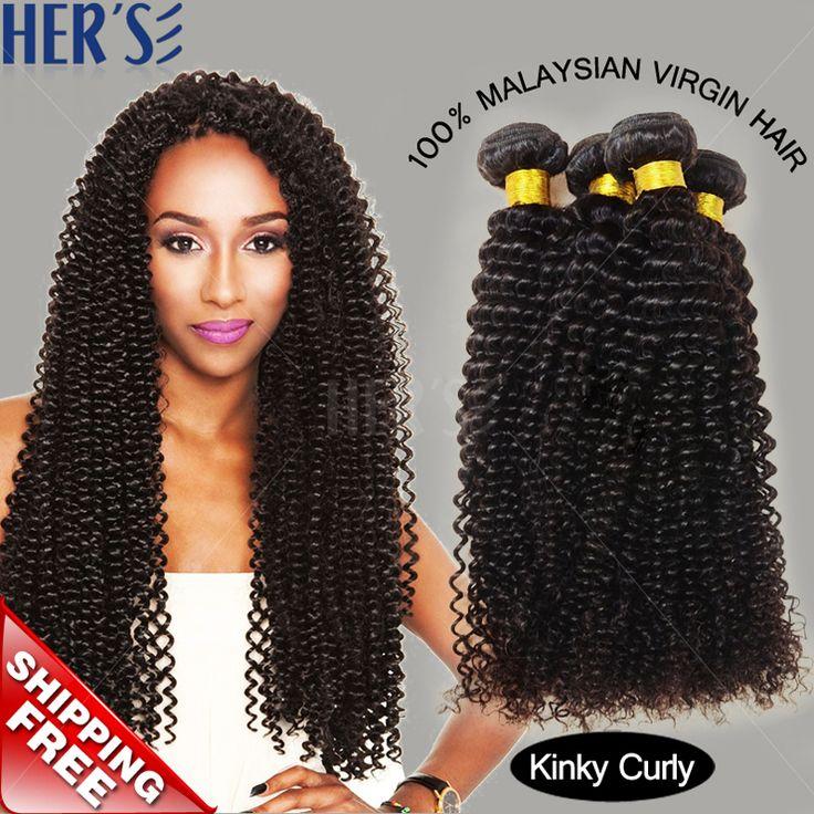 Ее малазийский вьющиеся волосы переплетения странный вьющиеся волосы девственные расслоения, 3 шт. афро кудрявый вьющиеся наращивание волос, Вьющиеся волосы девственные естественный