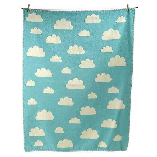 David Fussenegger Kuscheldecke Finn Wolken, Flanell, 100 x 130 cm