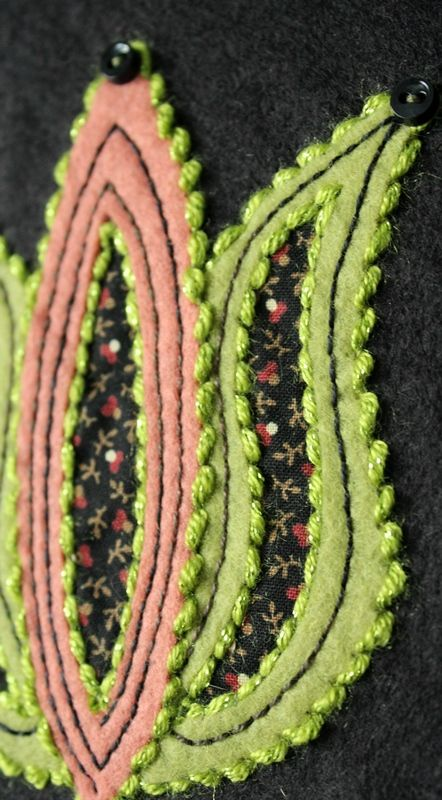Reverse wool applique. Week 20: May 14, 2014